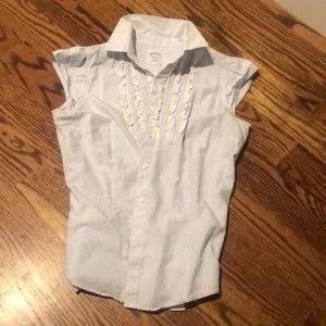 Brooks Brother SS button up With ruffles